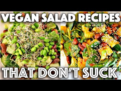 YUMMY SALAD RECIPES THAT DONT SUCK (VEGAN)