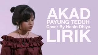 LIRIK Akad Payung Teduh Cover By Hanin Dhiya Lirik