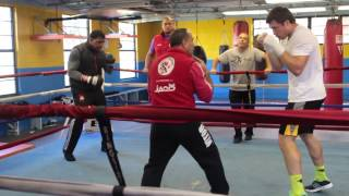 Grigory Drozd and Odlanier Solis Training with Pedro Diaz in Miami