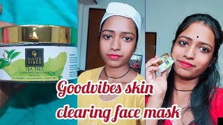 Goodvibes Tea Tree face mask honest review goodvibes skin clear mask