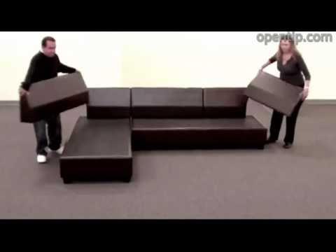 Poundex 3pcs Hungtinton Sectional Sofa Set (Ottoman Reversible) From Opentip.com