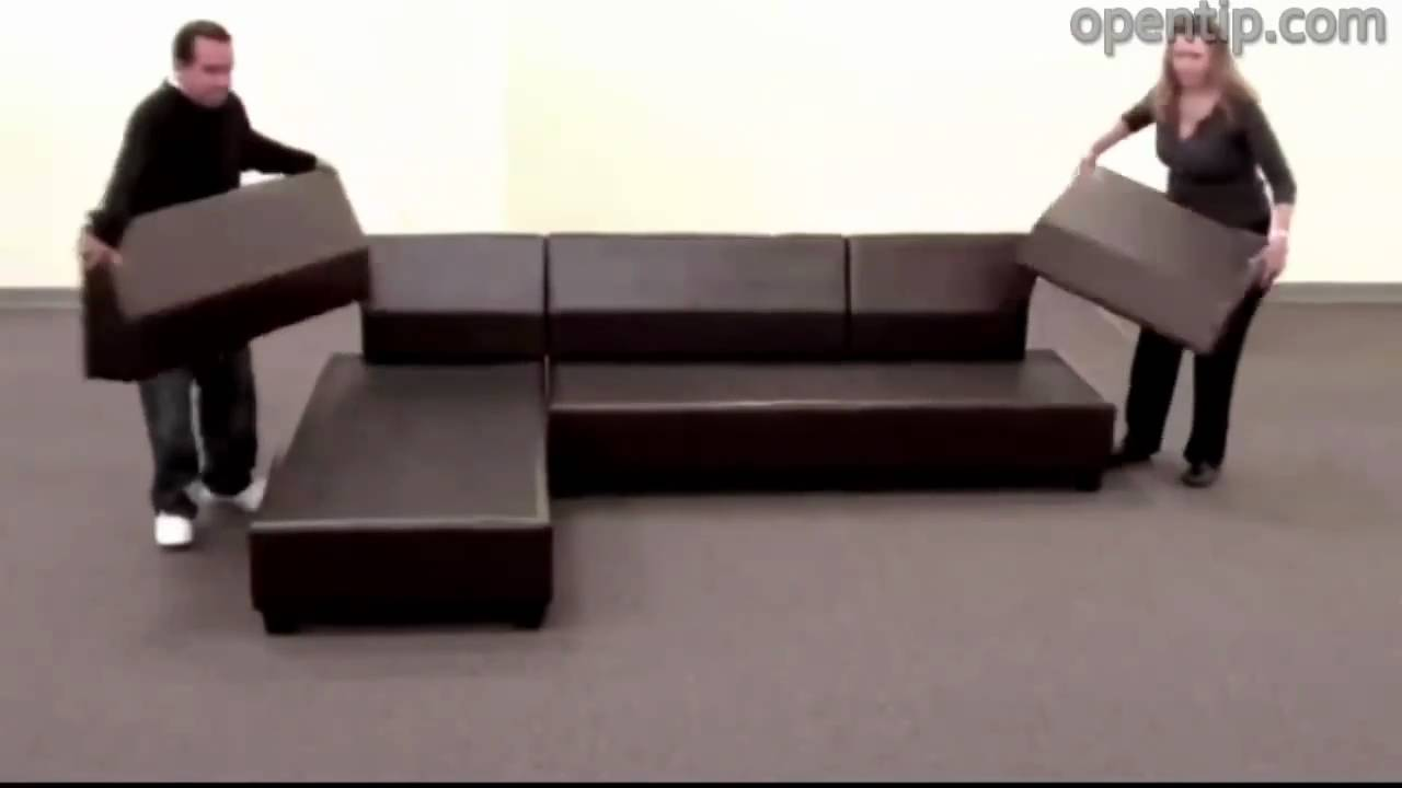 Poundex 3pcs Hungtinton Sectional Sofa Set (Ottoman Reversible) From  Opentip.com   YouTube Amazing Design