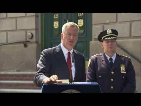 Mayor de Blasio Makes Announcement Regarding Neighborhood Policing