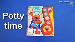 Elmo's Potty Time Play a Song Book - Learning to use the Potty for kids