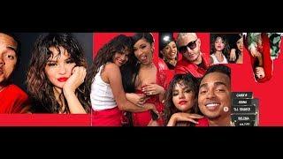 """Cardi b and selena gomez shoot 'taki taki' video """"taki taki"""" the trap are teaming up. rapper..."""