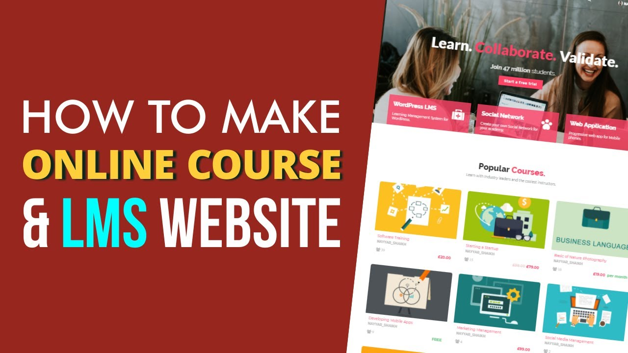 How to Create an Online Course, LMS, Educational Website Like Udemy using WordPress 2019 - WPLMS