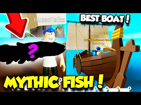 BUYING THE BEST NEW BOAT IN FISHING SIMULATOR UPDATE AND CATCHING MYTHIC FISH!! (Roblox)