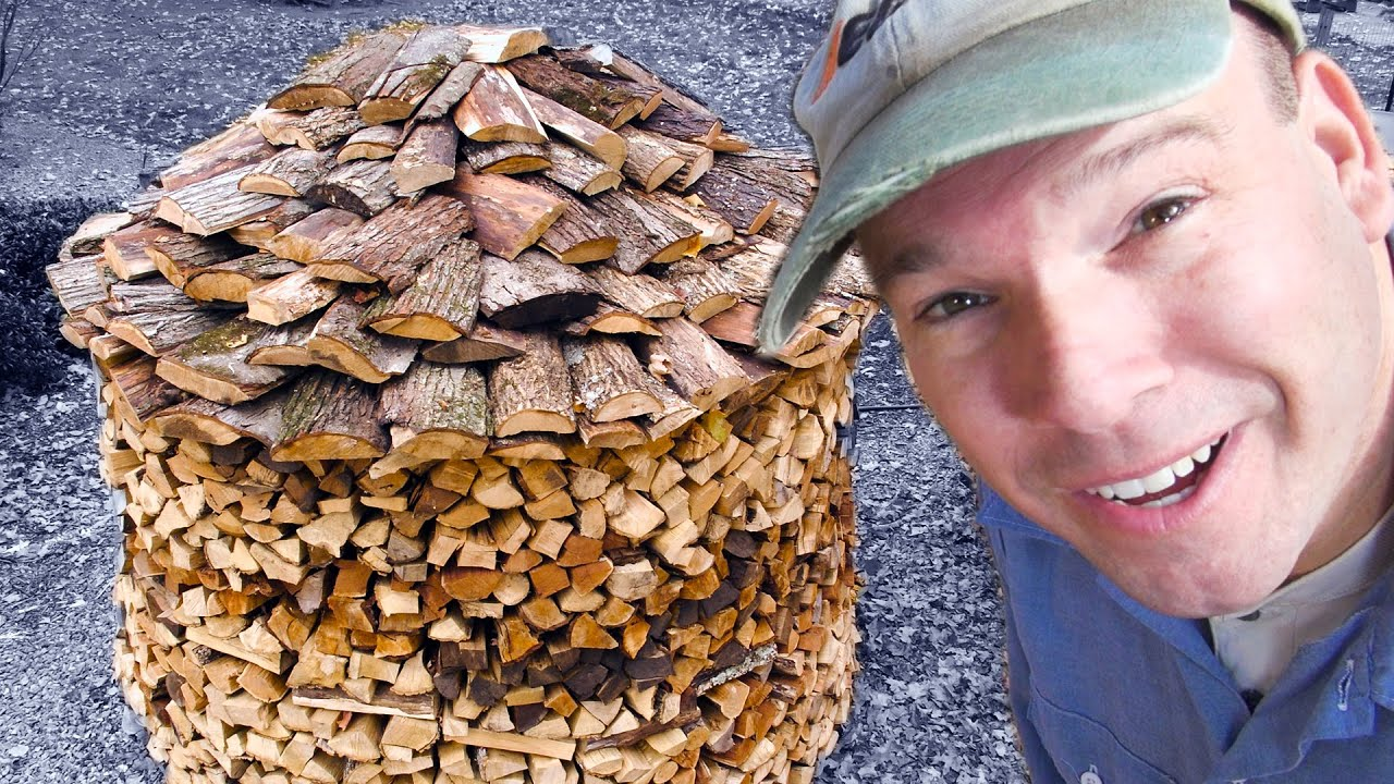 Build A Holz Hausen Woodpile 3 0 Building The Roof Youtube