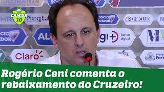 """""""Fico triste, mas..."""" OLHA o que Rogério Ceni falou após o rebaixamento do Cruzeiro!"""