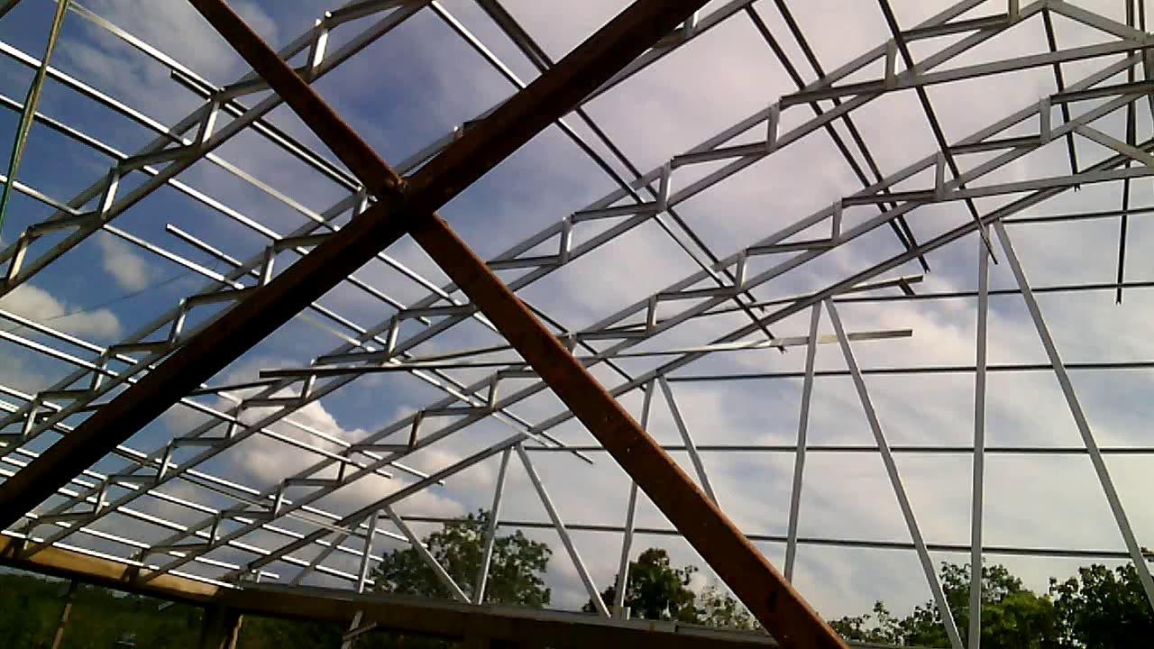 pasang baja ringan di jambi pemasangan atap lapangan futsal ukuran 20x30 youtube