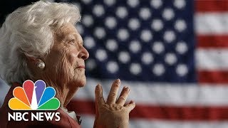 Former First Lady Barbara Bush Dead At 92 | NBC News