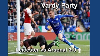 Vardy Party Leicester v Arsenal 3-0