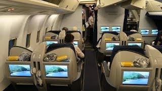 Condor Boeing 767 Business Class from Frankfurt to Zanzibar (via Mombasa)