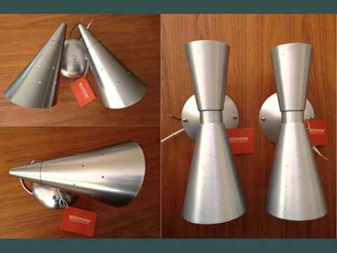 Mid Century Modern Wall Sconces - YouTube on Mid Century Modern Sconces id=52609