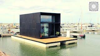 Schwimmendes Minihaus in Estland - das KODA Haus