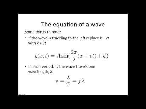 Sinusoidal wave equation