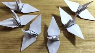 White origami cranes for wedding