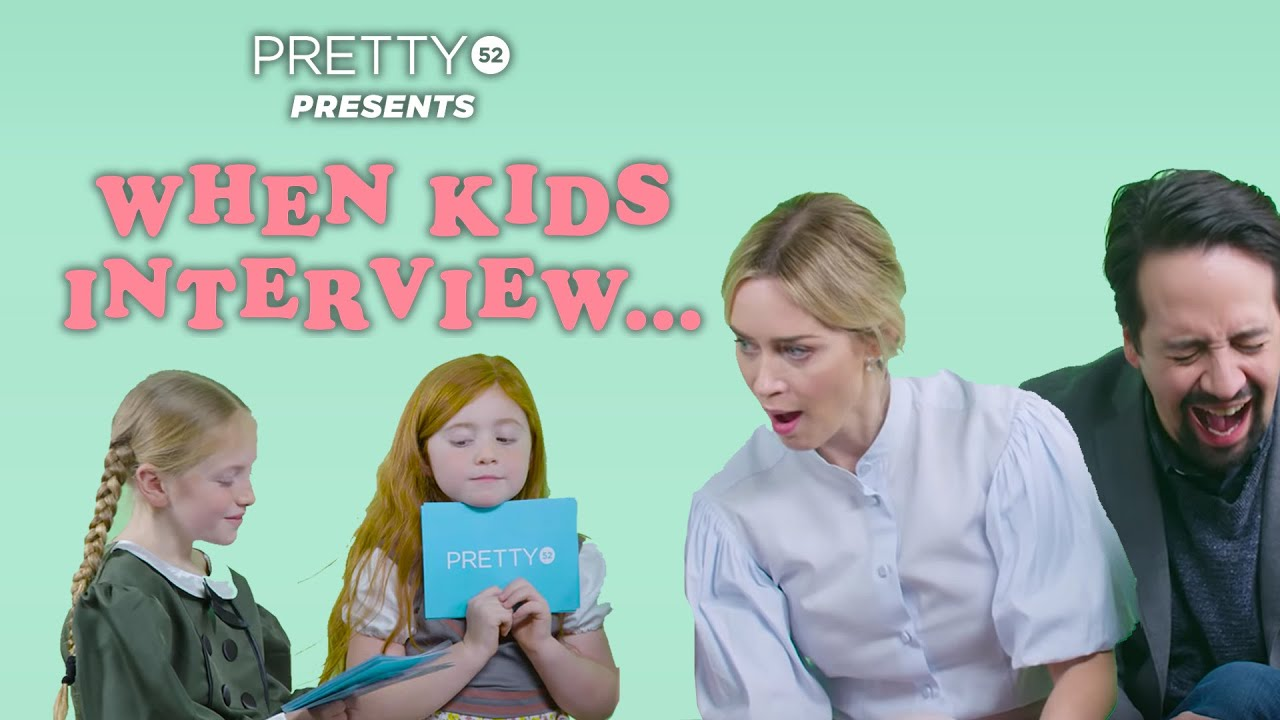 Mary Poppins and Lin-Manuel Miranda are Interviewed by Two Kids