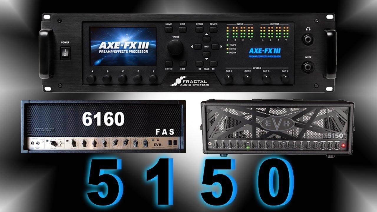 Axe Fx III High Gain Amp Series: 5150s (Based on Peavy | EVH 5150s)