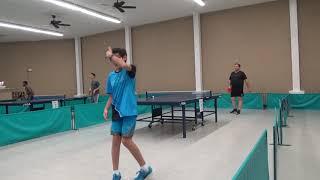 2017 Wichita Team Table Tennis Tournament Single match vs. D Correa (1704)