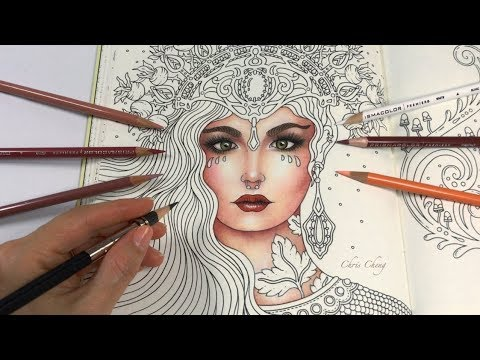 Skin Coloring with Colored Pencils | Chris Cheng Coloring
