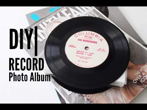 DIY | (Valentine's Day) Record Photo Album