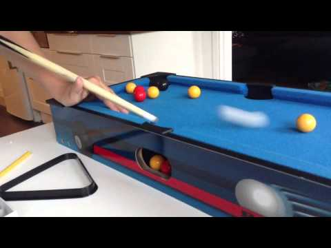 Mini Pool Table Trick Shots And More YouTube - 40 inch pool table