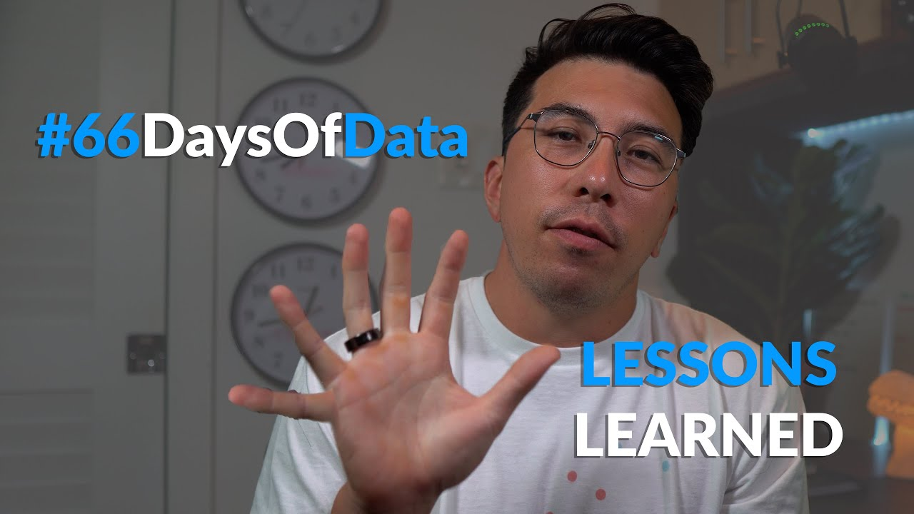 6 Lessons from #66DaysOfData