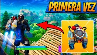MI PRIMERA VEZ con JETPACK! FORTNITE: Battle Royale