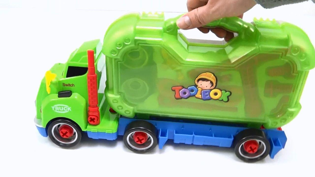 Camion Mula De Construccion Armable Musical Con Proyector Juguete