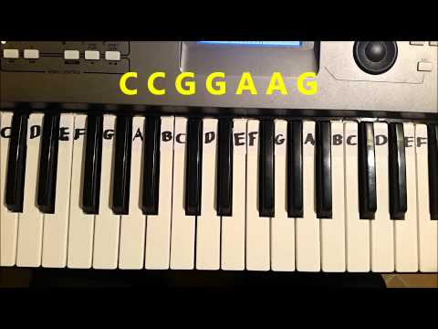 How To Play ABC Alphabet Song. Easy Piano Keyboard Tutorial