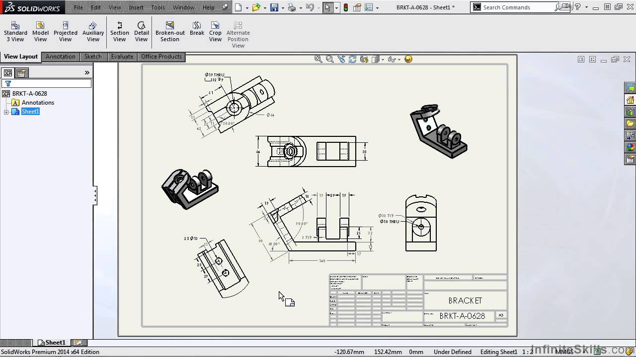 Solidworks drawing tools tutorial drawing overview for Solidworks drawing template tutorial