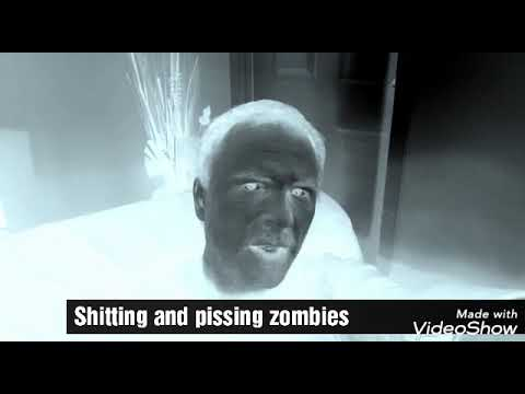 Shitting and pissing zombies= See moss and ya sip in ya dish