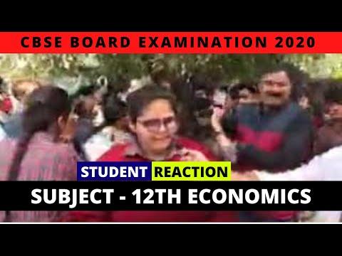 CBSE Board Exam   Class 12th Economics   Exam Analysis & Student Reactions