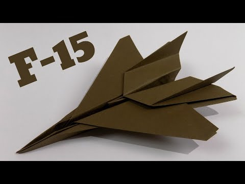 How To Make an F15 Paper Airplane ✈ Origami F15 Jet Fighter Plane