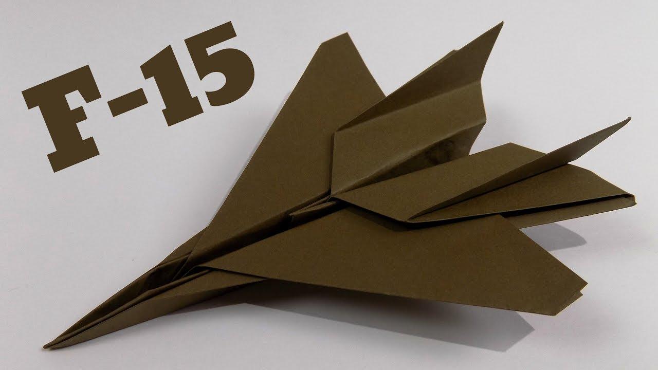 Cara Membuat Origami Pesawat F-15 The Eagle Jet | Origami Pesawat ... | 720x1280