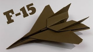 How To Make an F15 Paper Airplane ✈ Origami F15 Jet Fighter Plane (Tadashi Mori)