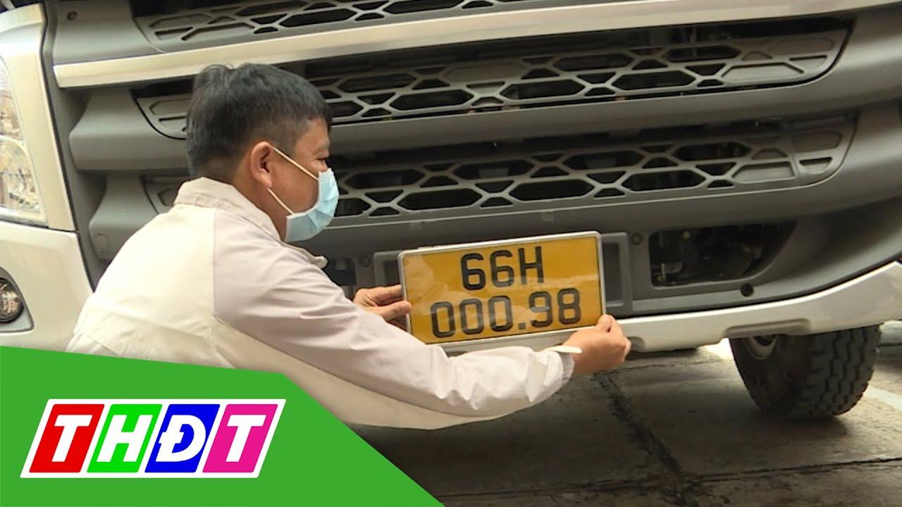 Gần 20.000 xe kinh doanh vận tải đã gắn biển số vàng | THDT