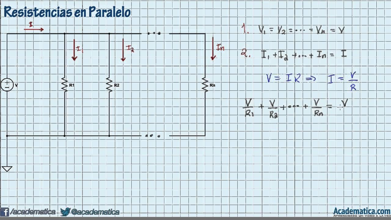 Circuito En Paralelo : Resistencias en paralelo circuitos youtube