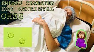 EGG RETRIEVAL | OHSS | EMBRYO TRANSFER | IVF JOURNEY 2018