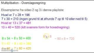 Multiplikation - Overslagsregning