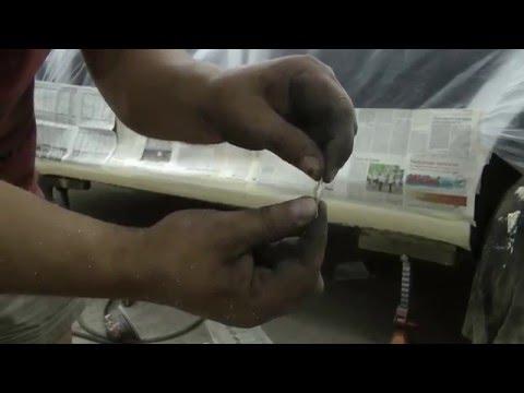 Восстановление герметиком порога  Skoda Octavia