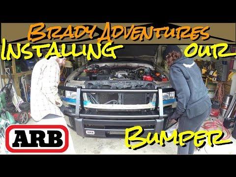 ARB Bull Bar Bumper Install  - 100 Series Land Cruiser Overland Rig Build
