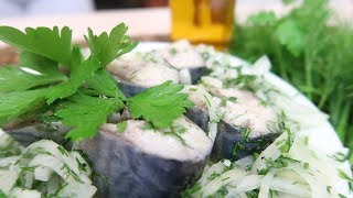 Засолка скумбрии, быстрый и вкусный рецепт соленой рыбы