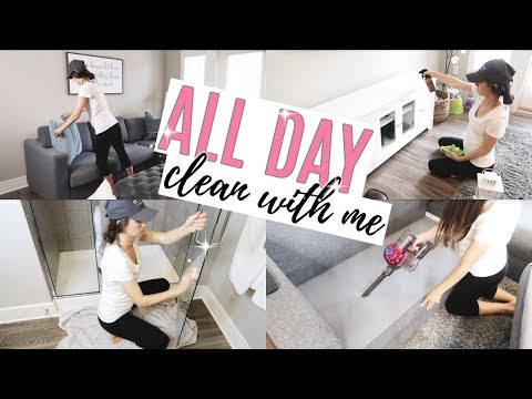 ALL DAY CLEAN WITH ME 2018 // LAST CLEANING VIDEO IN THIS APARTMENT // The Simple Life