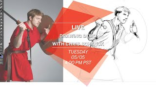 Social Distance Learning: Live Drawing Demo with Chris Schenck