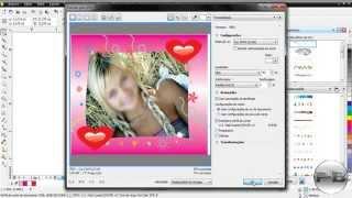 Como criar moldura para fotos, How to create photo frame no Corel Draw X6