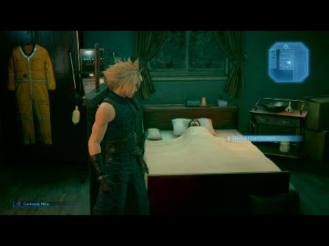 FINAL FANTASY VII REMAKE - Cloud Sneaks Into Jessie's House