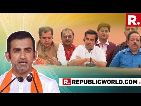 Manoj Tiwari, Gautam Gambhir Address Media After BJP's Clean Sweep In Delhi