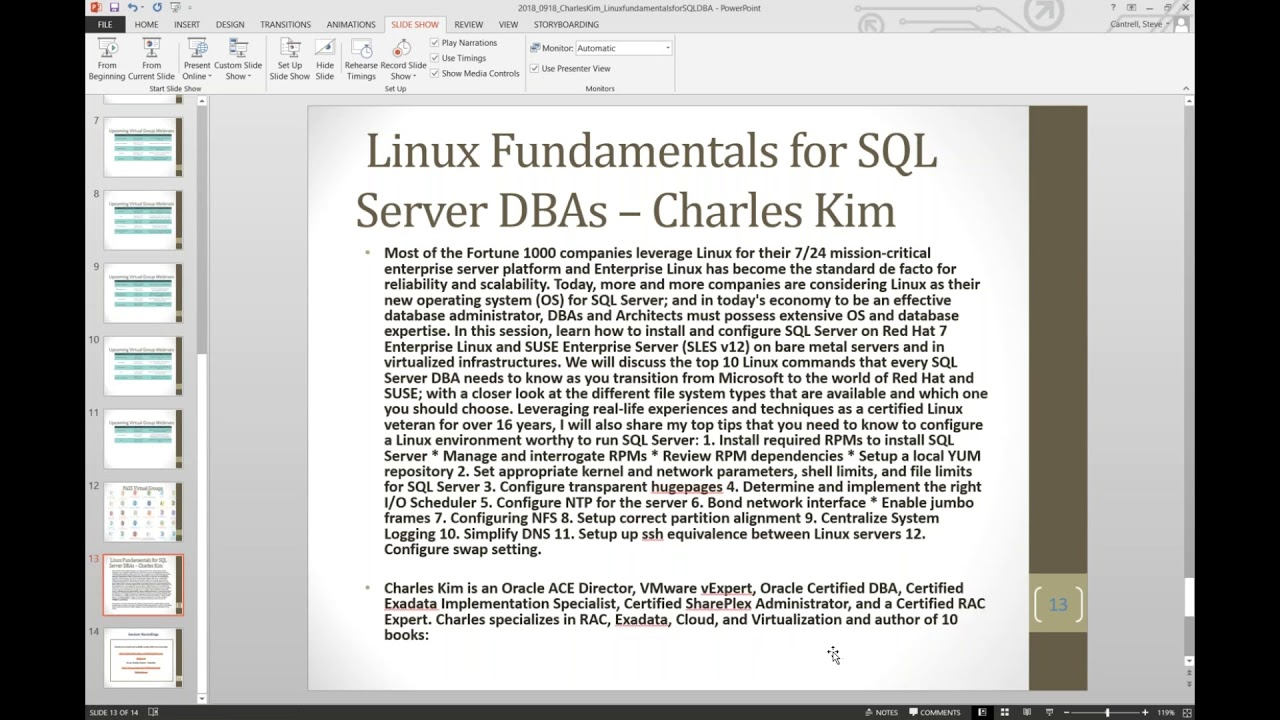 Linux Fundamentals for SQL Server DBAs